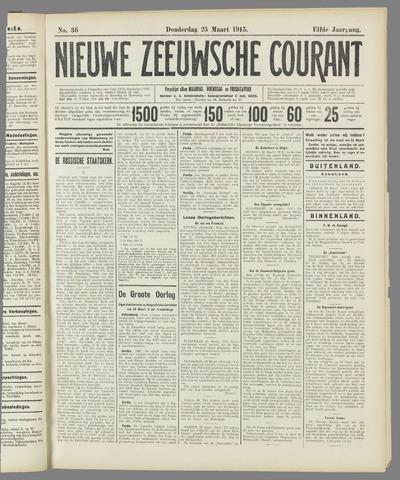 Nieuwe Zeeuwsche Courant 1915-03-25