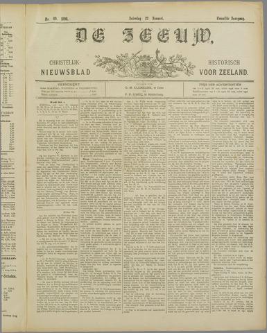 De Zeeuw. Christelijk-historisch nieuwsblad voor Zeeland 1898-01-22