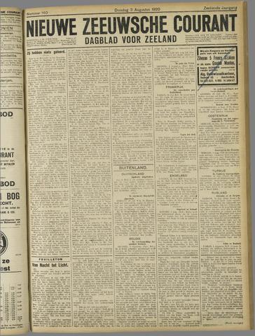 Nieuwe Zeeuwsche Courant 1920-08-03