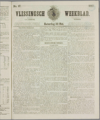 Vlissings Weekblad 1863-05-23