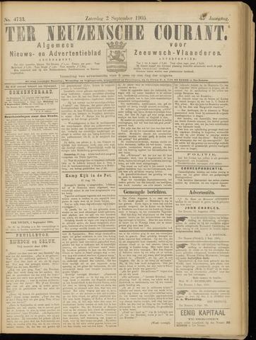 Ter Neuzensche Courant. Algemeen Nieuws- en Advertentieblad voor Zeeuwsch-Vlaanderen / Neuzensche Courant ... (idem) / (Algemeen) nieuws en advertentieblad voor Zeeuwsch-Vlaanderen 1905-09-02