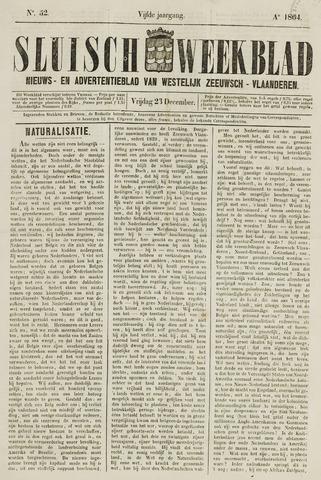 Sluisch Weekblad. Nieuws- en advertentieblad voor Westelijk Zeeuwsch-Vlaanderen 1864-12-23