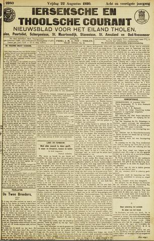Ierseksche en Thoolsche Courant 1930-08-22