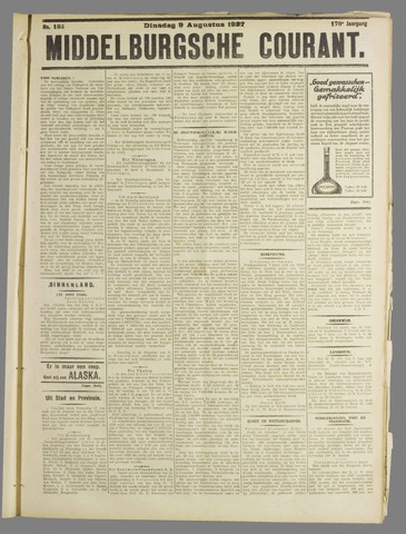Middelburgsche Courant 1927-08-09