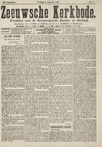 Zeeuwsche kerkbode, weekblad gewijd aan de belangen der gereformeerde kerken/ Zeeuwsch kerkblad 1921-01-07