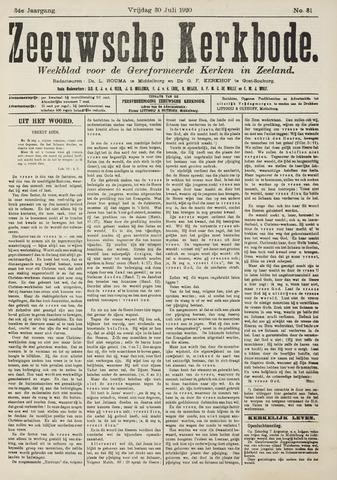 Zeeuwsche kerkbode, weekblad gewijd aan de belangen der gereformeerde kerken/ Zeeuwsch kerkblad 1920-07-30