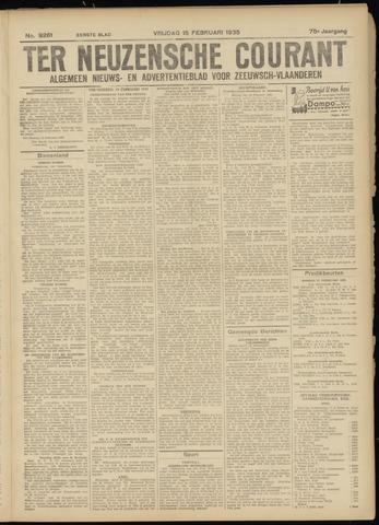 Ter Neuzensche Courant. Algemeen Nieuws- en Advertentieblad voor Zeeuwsch-Vlaanderen / Neuzensche Courant ... (idem) / (Algemeen) nieuws en advertentieblad voor Zeeuwsch-Vlaanderen 1935-02-15