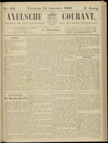 Axelsche Courant 1892-09-14