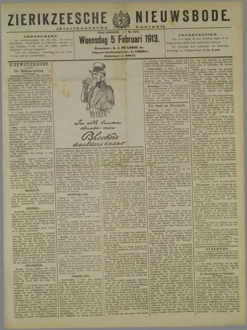 Zierikzeesche Nieuwsbode 1913-02-05