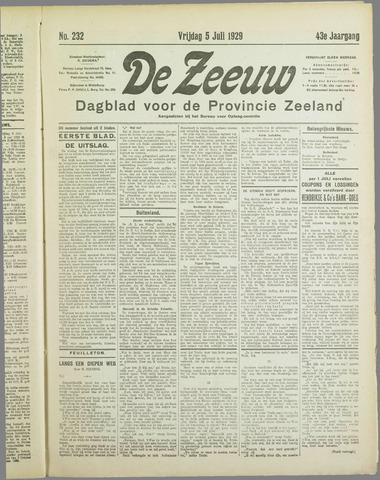 De Zeeuw. Christelijk-historisch nieuwsblad voor Zeeland 1929-07-05