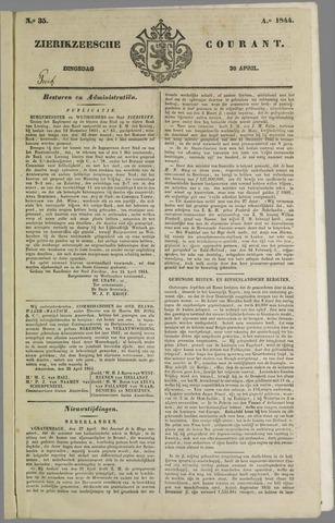 Zierikzeesche Courant 1844-04-30