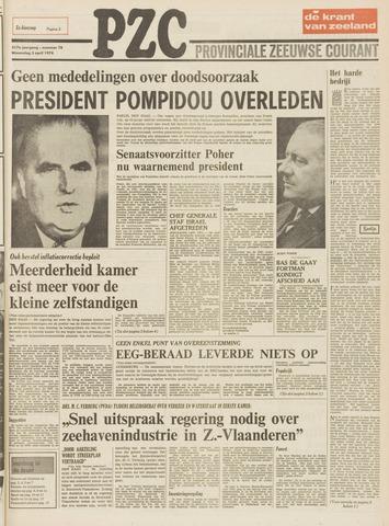 Provinciale Zeeuwse Courant 1974-04-03