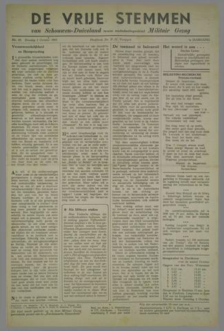 Vrije Stemmen van Schouwen-Duiveland, tevens mededeelingenblad Militair Gezag 1945-10-01