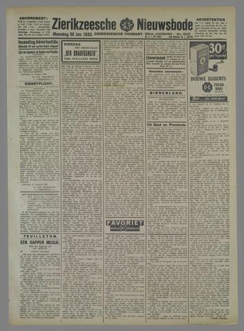 Zierikzeesche Nieuwsbode 1933-01-30