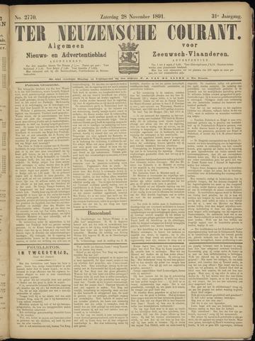 Ter Neuzensche Courant. Algemeen Nieuws- en Advertentieblad voor Zeeuwsch-Vlaanderen / Neuzensche Courant ... (idem) / (Algemeen) nieuws en advertentieblad voor Zeeuwsch-Vlaanderen 1891-11-28