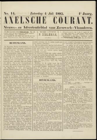 Axelsche Courant 1885-07-04