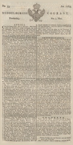 Middelburgsche Courant 1764-05-03