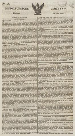 Middelburgsche Courant 1829-04-21