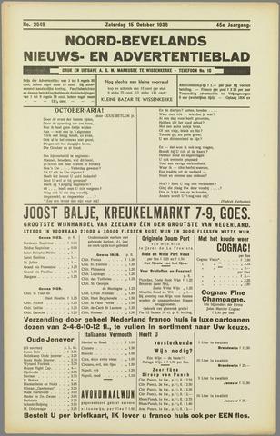 Noord-Bevelands Nieuws- en advertentieblad 1938-10-15