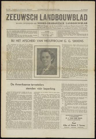 Zeeuwsch landbouwblad ... ZLM land- en tuinbouwblad 1953-08-29
