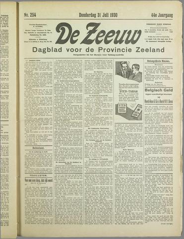 De Zeeuw. Christelijk-historisch nieuwsblad voor Zeeland 1930-07-31