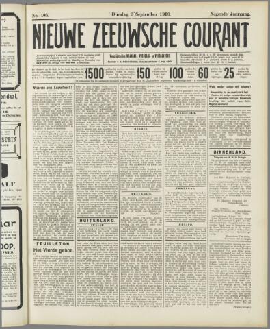 Nieuwe Zeeuwsche Courant 1913-09-09