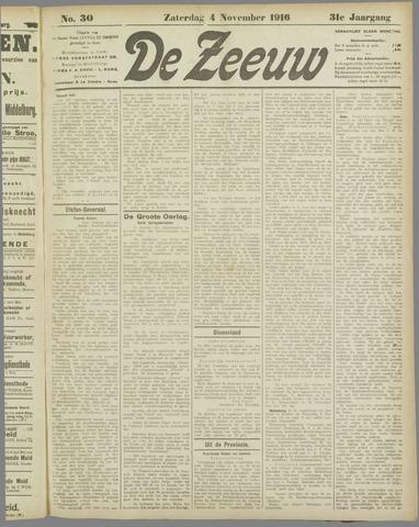 De Zeeuw. Christelijk-historisch nieuwsblad voor Zeeland 1916-11-04
