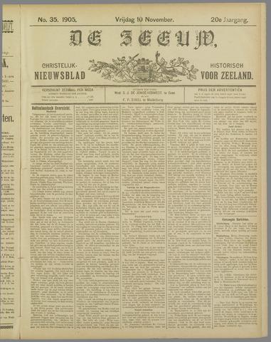 De Zeeuw. Christelijk-historisch nieuwsblad voor Zeeland 1905-11-10