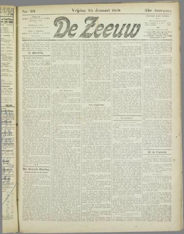 De Zeeuw. Christelijk-historisch nieuwsblad voor Zeeland 1918-01-25