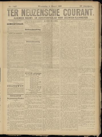 Ter Neuzensche Courant. Algemeen Nieuws- en Advertentieblad voor Zeeuwsch-Vlaanderen / Neuzensche Courant ... (idem) / (Algemeen) nieuws en advertentieblad voor Zeeuwsch-Vlaanderen 1923-03-14