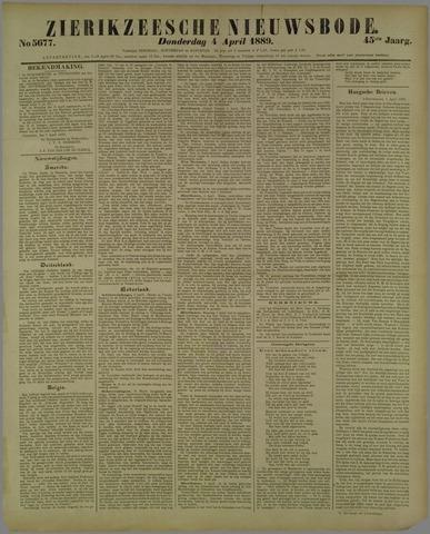 Zierikzeesche Nieuwsbode 1889-04-04