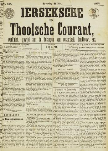 Ierseksche en Thoolsche Courant 1892-05-21
