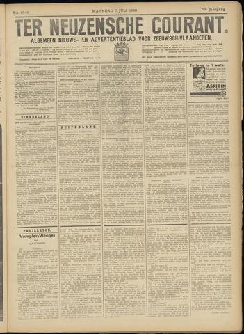 Ter Neuzensche Courant. Algemeen Nieuws- en Advertentieblad voor Zeeuwsch-Vlaanderen / Neuzensche Courant ... (idem) / (Algemeen) nieuws en advertentieblad voor Zeeuwsch-Vlaanderen 1930-07-07