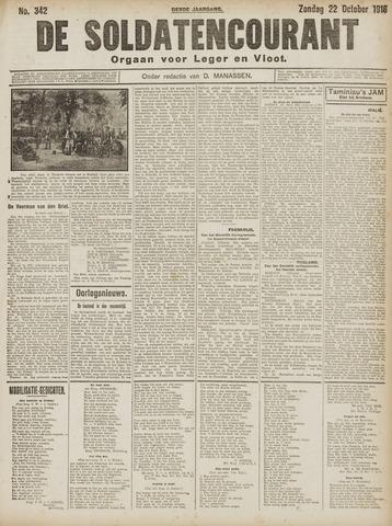De Soldatencourant. Orgaan voor Leger en Vloot 1916-10-22
