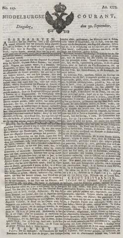 Middelburgsche Courant 1777-09-30