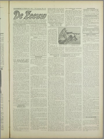 De Zeeuw. Christelijk-historisch nieuwsblad voor Zeeland 1943-02-11