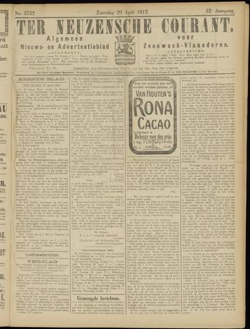 Ter Neuzensche Courant. Algemeen Nieuws- en Advertentieblad voor Zeeuwsch-Vlaanderen / Neuzensche Courant ... (idem) / (Algemeen) nieuws en advertentieblad voor Zeeuwsch-Vlaanderen 1912-04-20