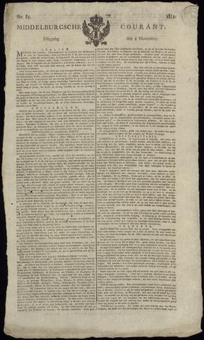 Middelburgsche Courant 1814-11-08