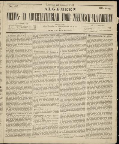 Ter Neuzensche Courant. Algemeen Nieuws- en Advertentieblad voor Zeeuwsch-Vlaanderen / Neuzensche Courant ... (idem) / (Algemeen) nieuws en advertentieblad voor Zeeuwsch-Vlaanderen 1870-01-22