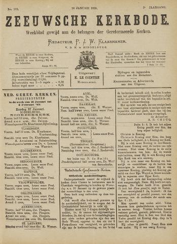Zeeuwsche kerkbode, weekblad gewijd aan de belangen der gereformeerde kerken/ Zeeuwsch kerkblad 1889-01-26