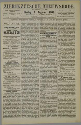 Zierikzeesche Nieuwsbode 1900-08-07