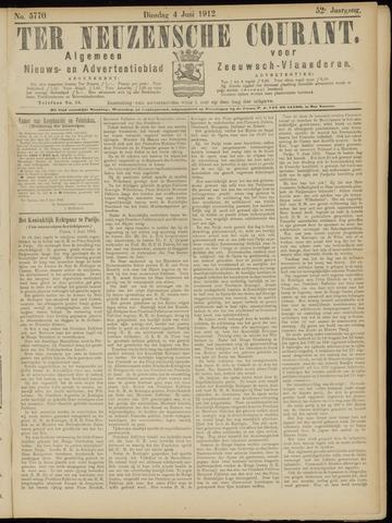 Ter Neuzensche Courant. Algemeen Nieuws- en Advertentieblad voor Zeeuwsch-Vlaanderen / Neuzensche Courant ... (idem) / (Algemeen) nieuws en advertentieblad voor Zeeuwsch-Vlaanderen 1912-06-04