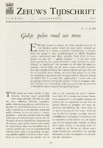 Zeeuws Tijdschrift 1963-07-01
