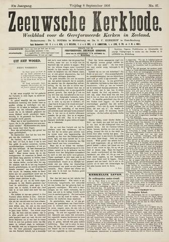 Zeeuwsche kerkbode, weekblad gewijd aan de belangen der gereformeerde kerken/ Zeeuwsch kerkblad 1916-09-08
