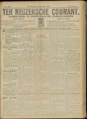 Ter Neuzensche Courant. Algemeen Nieuws- en Advertentieblad voor Zeeuwsch-Vlaanderen / Neuzensche Courant ... (idem) / (Algemeen) nieuws en advertentieblad voor Zeeuwsch-Vlaanderen 1915-10-14