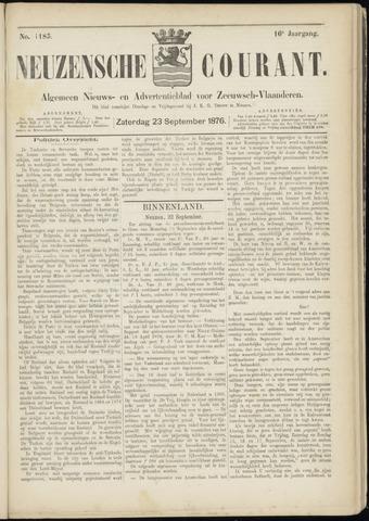 Ter Neuzensche Courant. Algemeen Nieuws- en Advertentieblad voor Zeeuwsch-Vlaanderen / Neuzensche Courant ... (idem) / (Algemeen) nieuws en advertentieblad voor Zeeuwsch-Vlaanderen 1876-09-23