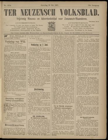 Ter Neuzensch Volksblad. Vrijzinnig nieuws- en advertentieblad voor Zeeuwsch- Vlaanderen / Zeeuwsch Nieuwsblad. Nieuws- en advertentieblad voor Zeeland 1917-05-26