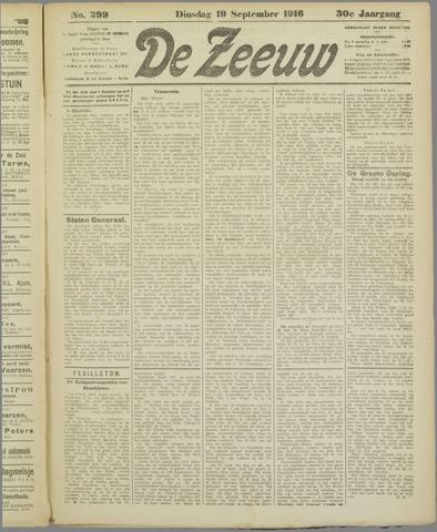 De Zeeuw. Christelijk-historisch nieuwsblad voor Zeeland 1916-09-19