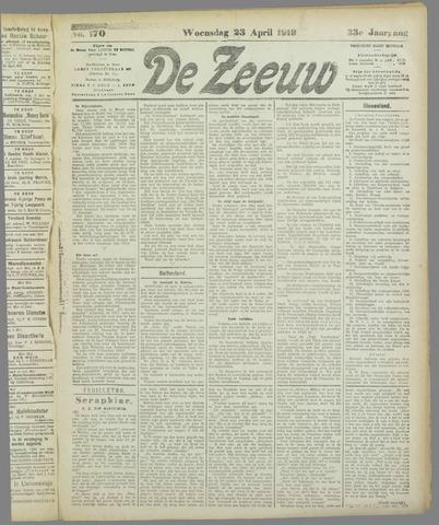 De Zeeuw. Christelijk-historisch nieuwsblad voor Zeeland 1919-04-23
