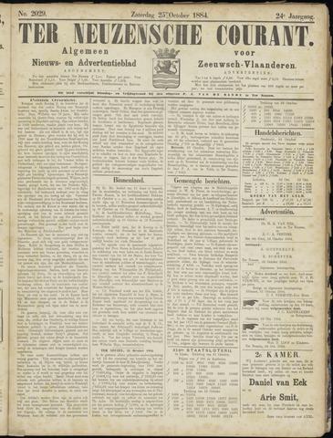 Ter Neuzensche Courant. Algemeen Nieuws- en Advertentieblad voor Zeeuwsch-Vlaanderen / Neuzensche Courant ... (idem) / (Algemeen) nieuws en advertentieblad voor Zeeuwsch-Vlaanderen 1884-10-25